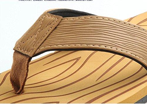 Baymate Herren Strand Zehentrenner Anti-Rutsch Flip Flops Komfort Sandalen Gelb