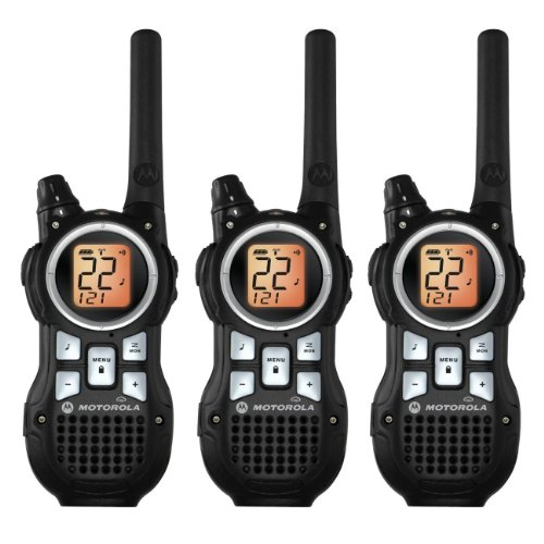 Motorola TRIPLE PACK Talkabout FRS 2-Way Radios, Completely Weatherproof, with NOAA Weather Channels and iVOX Hands Free Communication, with Total Emergency Preparedness, Ear Buds, Triple Charging Base, Belt Clips Included