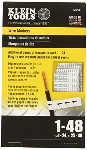 Prints Booklet - Wire Marker Book, 1-48 Klein Tools 56250