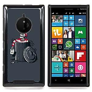 """For Nokia Lumia 830 , S-type Divertido Waldo Esqueleto"""" - Arte & diseño plástico duro Fundas Cover Cubre Hard Case Cover"""