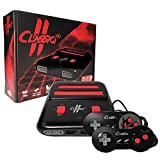 Old Skool Classiq 2 HD 720p Twin Video Game System, Black/Red for SNES/NES Nintendo and Super Nintendo