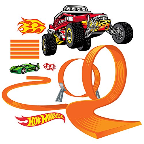 Hot Wheels Cars Large Loop Wall Decal (Hot Wheels Decal Set)