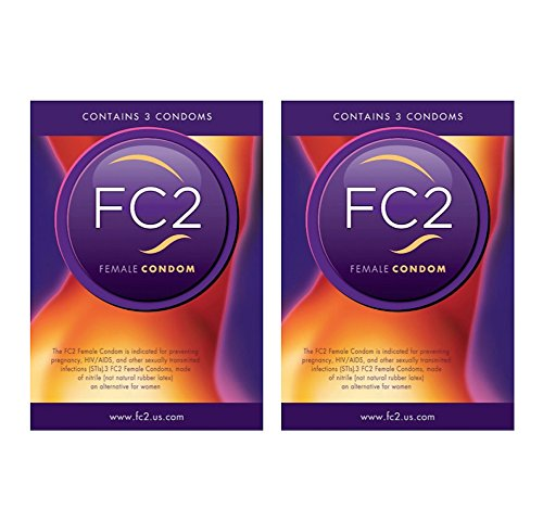 FC2 Female Condom Latex-free Protection from Disease and Pregancy ~6 Condoms by Condom Pros