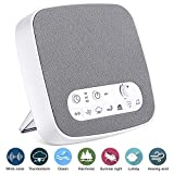 Onvian White Noise Machine, Sleep Relax Sound Machine with 7 Soothing Nature Sounds, Build-in Sleep Timer Headphone Jack and USB Output Charger