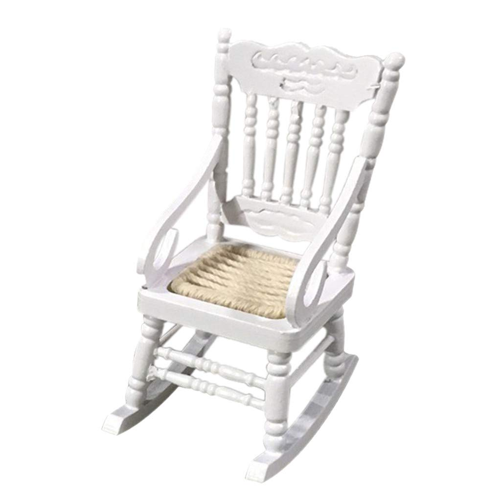 Amazon Com Lomsarsh Rocking Chair Mini Wooden Dollhouse