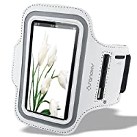 SANOXY® PREMIUM NEOPRENE RUNNING SPORTS GYM ARMBAND CASE COVER WITH KEY HOLDER SLOT FOR IPHONE 5 (WHITE)