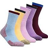 Women's Outdoor Sports Athletic Socks YUEDGE 5 Pairs Wicking Cushion Crew Socks Multi