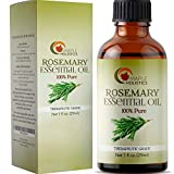 100% Pure Rosemary Essential Oil for Therapeutic Aromatherapy Stimulating Scalp Treatment for Healthy Hair Growth Anti Aging Antioxidant Ancient Beauty Elixir Natural Skin Care for Acne and Wrinkles Larger Image