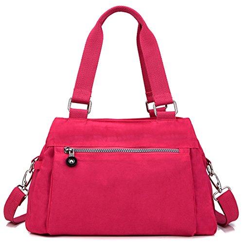 HT Nylon Shoulder Bag - Bolso al hombro para mujer Azul Fluorescente