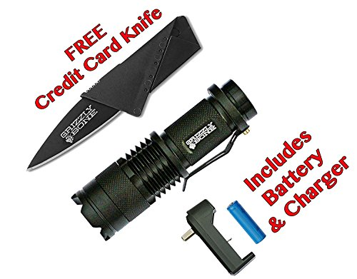 Professional-Grade-Ultra-Bright-Tactical-Flashlight-300-Lumen-LED-Zoomable-Rechargeable-Kit-Bugout-Bag-Power-Outage-Camping-Lantern-Outdoor-Survival-Gear-Comes-W-Free-Survival-Life-Credit-Card-Knife