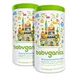 Babyganics All Purpose Surface Wipes, Fragrance Free, 150-Count (Contains Two 75-Count Canisters)