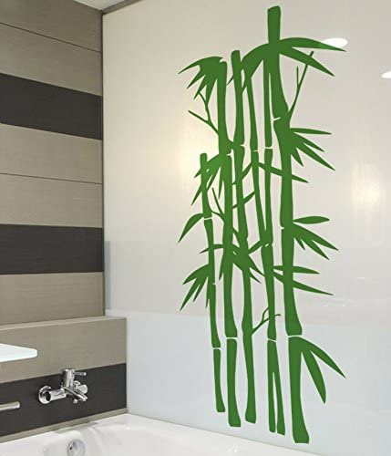 IDEAVINILO Vinilo Decorativo bambú. Color Verde. Medidas: 42x100cm ...