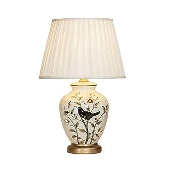 Mmpy Al estilo europeo de cerámica lámpara de mesa de noche, ropa ...