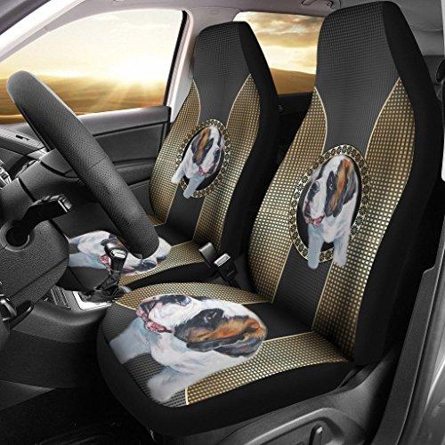 nt Bernard Dog Print Car Seat Covers ()
