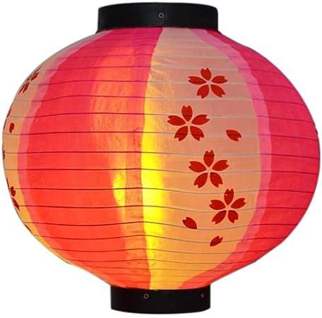 Lanterne En Papier De Style Japonais Fait Main Rose Rouge Sakura Suspendu Abat Jour Decoratif Restaurant A La Maison Ronde Amazon Fr Cuisine Maison