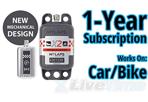MyLaps X2 Transponder, Rechargeable, for Car/Bike, includes 1-Year Subscription