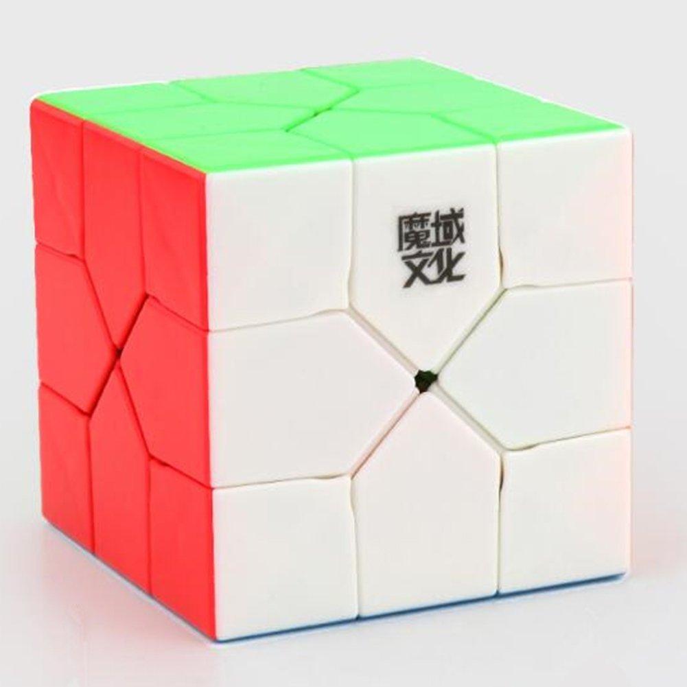 RONSHIN 3x3x3 Cubo M/ágico Creative Skewb Cube Rompecabezas Puzzle Cubo para Magic Cuber Profesionales Jugadores Amantes Black