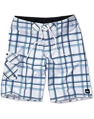 Mens Board Shorts Paid in Full Plaid Swim Suit