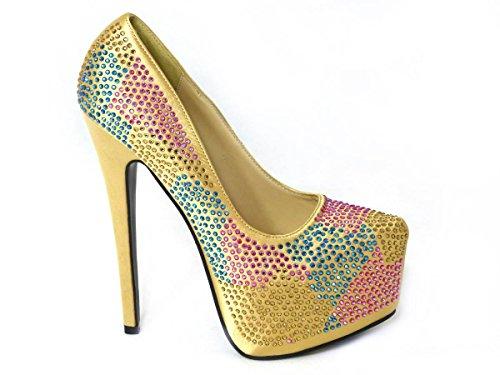 SKOS ,  Damen Pumps Gold (5741-10)