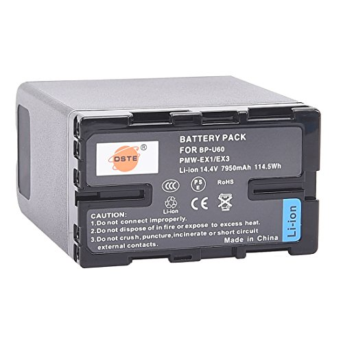 DSTE BP-U60 Rechargeable Li-ion Battery Pack for Sony PMW-100 150P 160 MW-200 EX1 EX3 EX260 EX280 EX160 F3 PXW-X180 Camcorder
