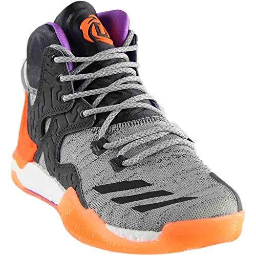 adidas Mens D Rose 7 Primeknit Basketball Athletic Shoes Grey 18