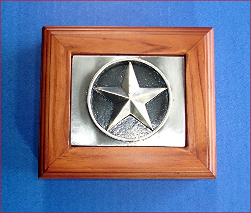 Pewter Belt Buckle Confederate Flag (Western Decor Jewelry/Valet Box Pewter Western Texas Star)