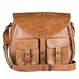 Enew Handmade Women Vintage Style Genuine Brown Leather Cross Body Shoulder Bag Handmade Purse