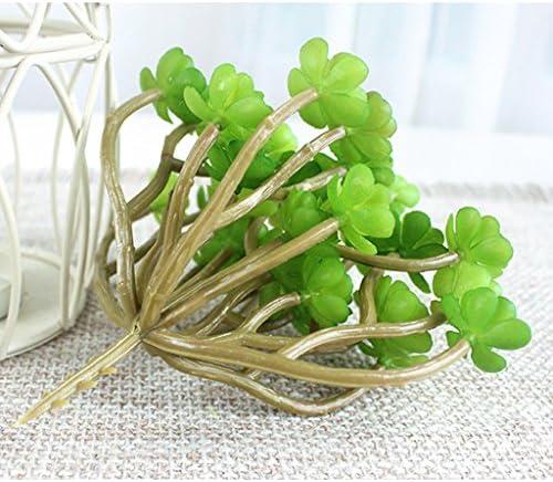 2 Taille Unique Feli546Bruce Plante Succulente Artificielle Aloe DIY Bonsa/ï Maison H/ôtel Caf/é D/écor Artificiel Plante Succulente en Tiges Vertes pour Maison Int/érieur Jardin