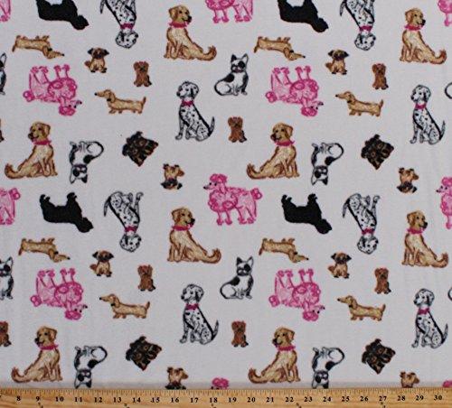 french bulldog fleece fabric - 3