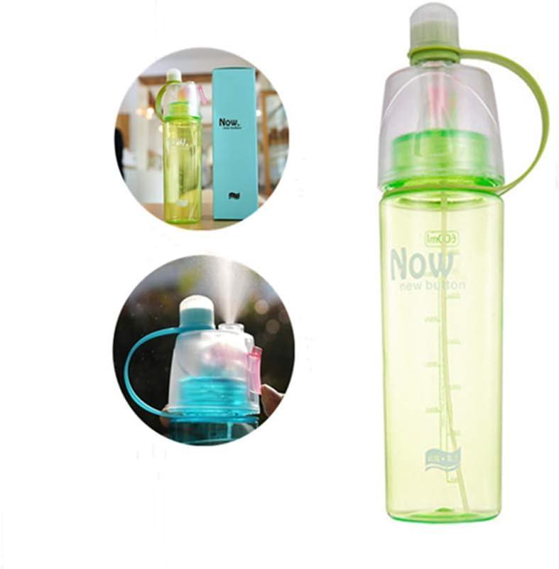Botella deportiva profesional 096 – La botella deportiva tiene la función de enfriamiento rápido por pulverización, apta para viajes y fitness, 600 ml