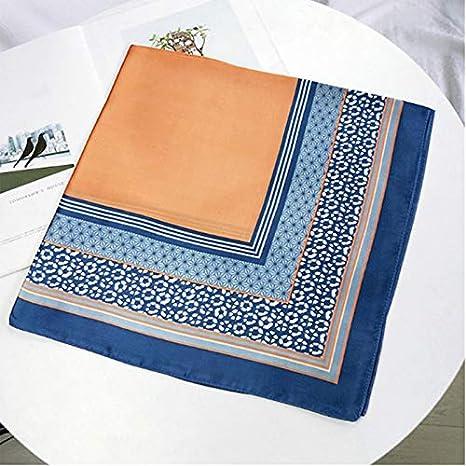 Leisial /Écharpe Square Vintage /Él/égant avec Motif dImpression Bandana Professionnelle Foulard Carr/ée D/écorative