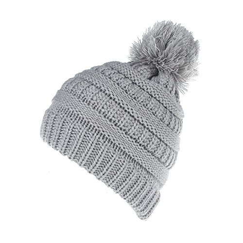 XYIYI Kids Baby Toddler Winter Warm Cable Knit Hat, Thick Stretchy Braided Beanie Cap