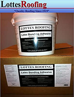 AM 1 pail, 4 1/4 gallon each of ROOFING Latex Bonding Adhesive