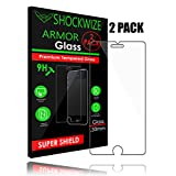iPhone 6S / 6 Screen Protector, ShockWize [2 Pack] iPhone 6s / 6 Tempered Glass Screen Protector for Apple iPhone 6s / 6 [3D Touch Compatible] (2 Pack)
