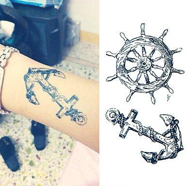 alallti ancla Volante Tattoo Pegatinas Tatuajes Temporales (1 ...