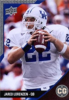 2014 Upper Deck SEC Conference Greats University of Kentucky Football Card # 47 Jared Lorenzen IN PROTECTIVE SCREWDOWN DISPLAY CASE