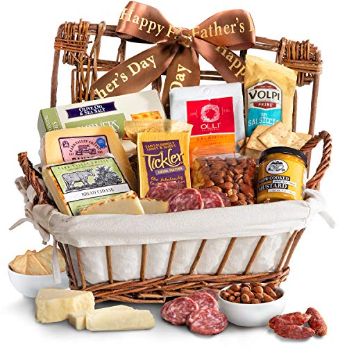 (Happy Father's Day Gourmet Cheese & Meats Hamper Gift Basket)