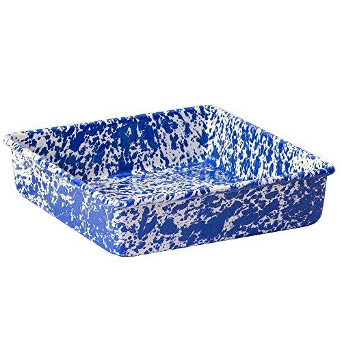 Blue Steel Bread Pan (Enamelware Brownie Cornbread Pan - Blue)