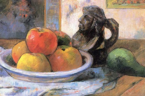 Pitcher Tahiti - ArtParisienne Still Life with Apples, Pears, and Krag Paul Gauguin 16x24-inch Wall Decal