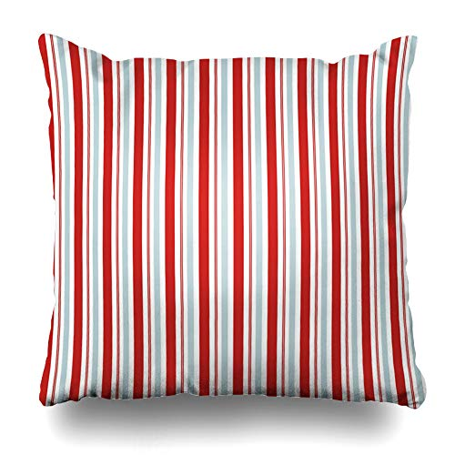 - DIYCow Throw Pillow Covers Party Seuss Red Blue Stripes Abstract Dr Pattern Circus Americana 4Th Aqua Design Home Decor Pillowcase Square Size 20 x 20 Inches Zippered Cushion Case
