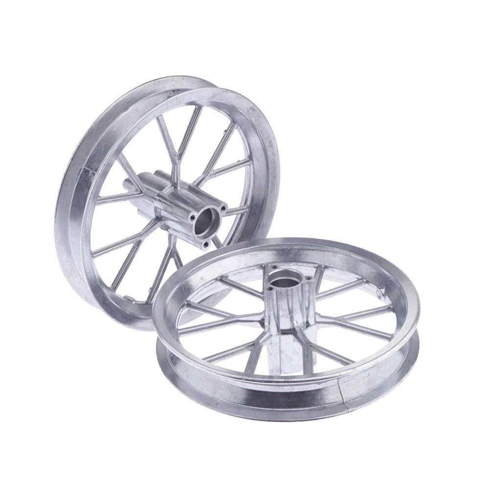 Silver 1 Pair Front Rear 12 1//2 x 2.75 Tire Wheel Rim Replacement for 49cc Mini Moto Pocket Dirt Bike
