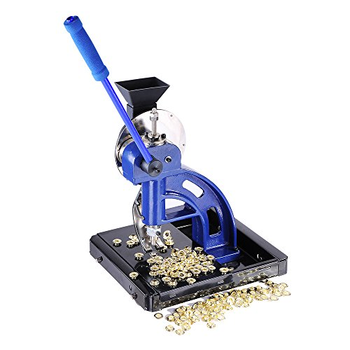 Yescom Semi-automatic #2 Die Hand Press Grommet Machine w/ 4000Pcs Grommets & Eyelet Feeding & Rolling Base Tool Kit by Yescom (Image #7)
