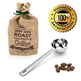 Amerigo Premium Coffee Scoop, Stainless Steel Measuring Coffee Spoon, Long Handled Coffee Scoop for the Best Usage