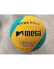 Mega diseño de remolino de agua bola de polo–azul amarillo verde tamaño 4