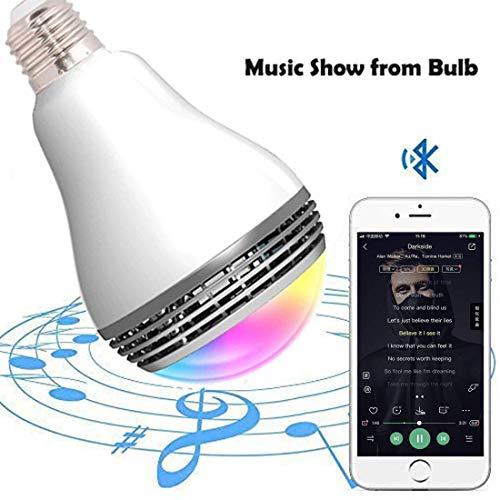 LED Smart Light Bulb with Bluetooth Speaker and APP Control RGB Multi Color Changing Dimmable Y01