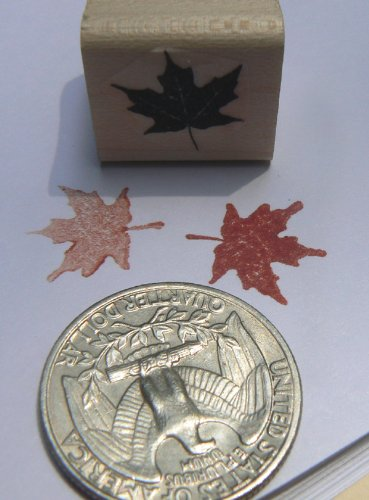 (Miniature maple leaf rubber stamp P24)