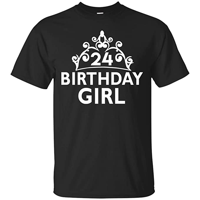 Roteefe 24th Birthday Gifts 24 Girl T Shirt For Men Women