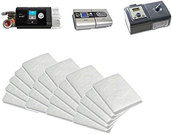 Dasing 30Pcs Filtros de Aire Desechables Filtros de Repuesto Universales Desechables Premium para ResMed AirSense 10 AirCurve10 S9