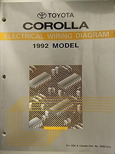 toyota corolla electrical wiring diagram 1992 model toyota motor Wiring Diagram 1989 Toyota Corolla SR5