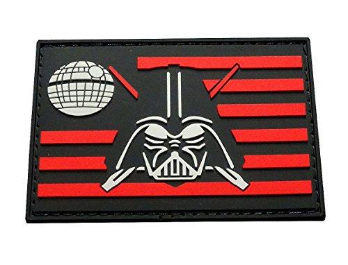 Darth Vader Flag Star Wars Tactical Morale Patch (HOOK-3D PVC Rubber)